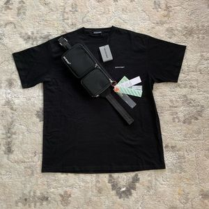 Balenciaga T-shirt & Off-White bag